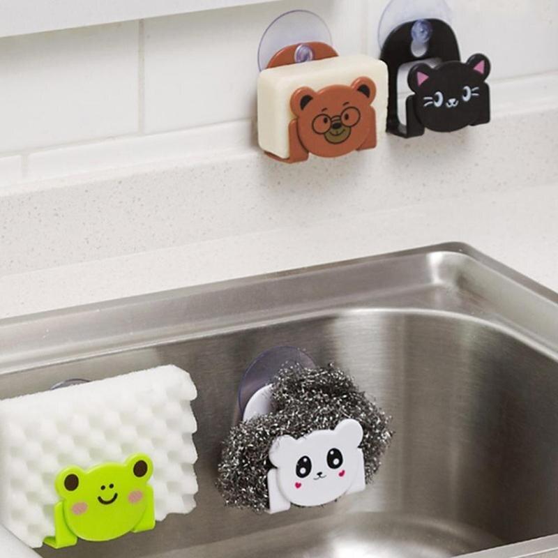 Sponge Holder Dryer Tableware Sink Drain Shelf Kitchen Organizer Sponge Organizer In Sink Dish Drainer Kitchen Supplies