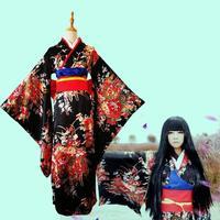 japanese Cosplay Costume Print Floral Geisha Robes Novelty Evening Dress Fashion National Trends Women Sexy Kimono Yukata Dress