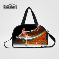 Dispalang Ice Skating Girls Travel Bags Large Overnight Duffel Bag Weekend Travel Large Tote Bags Crossbody Womens Travel Bags