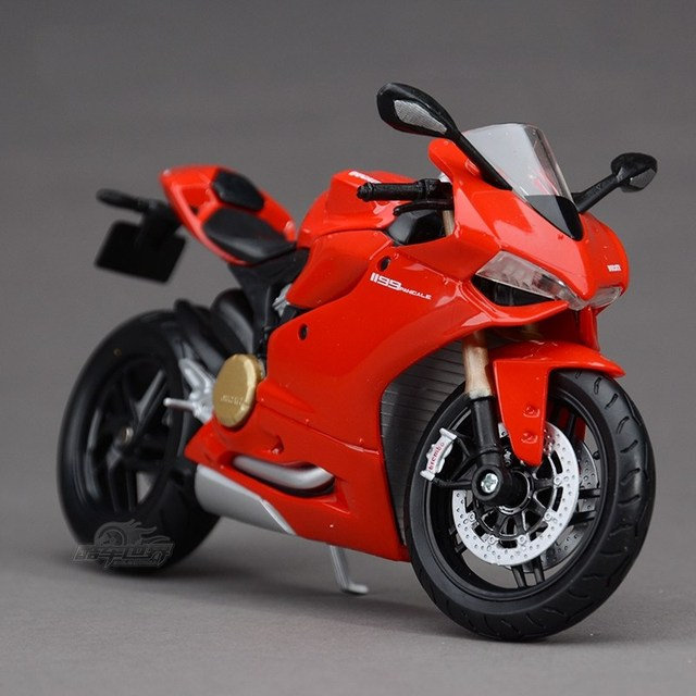 Freeshipping Maisto Superbike 1199 Panigale R Motorcycles 1:12 Diecast Metal Sport Bike Model Toy New in Box For Kids