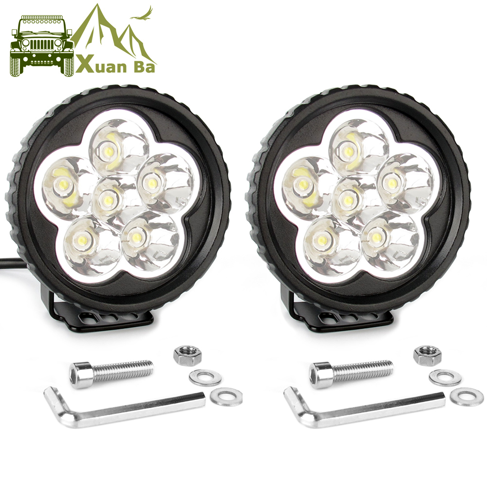 2Pcs 3.5 Inch 18W Led Work Light 12V 24V For Car 4x4 Off road Truck Motorcycle Tractor ATV Trailer Waterproof Spot Work Lights-in Light Bar/Work Light from Automobiles & Motorcycles