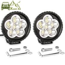 2Pcs 3.5 Inch 18W Led Work Light 12V 24V For Car 4x4 Off road Truck Motorcycle Tractor ATV Trailer Waterproof Spot Work Lights