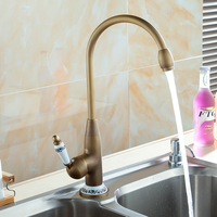 Antique faucet kitchen Antique faucet Kitchen Blue and white porcelain Retro bathroom Water tap