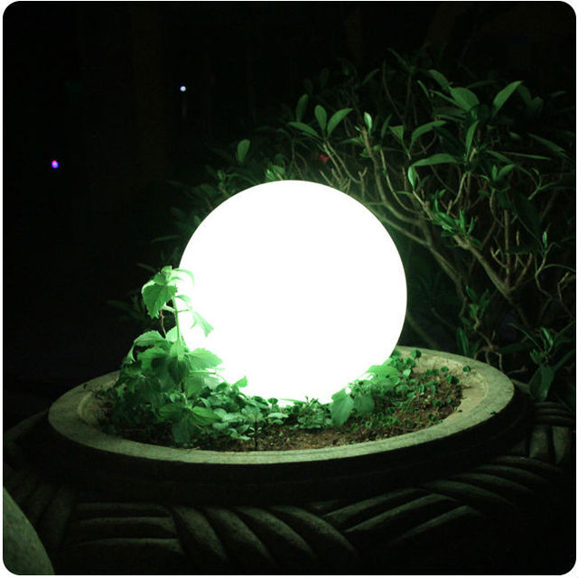 D30cm Waterproof Led Ball Outdoor Lamp Glowing Sphere Night Light For
