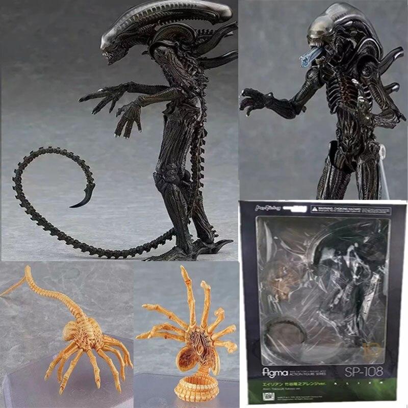 Figma SP-108 10th Alien Takayuki Takeya Version VS Predator PVC Action Figure Collectible Toy Gift