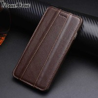 MAKEULIKE Genuine Leather Vertical Case For IPhone 8 IPhone8 4 7 Inch Luxury Magnet Phone Cover