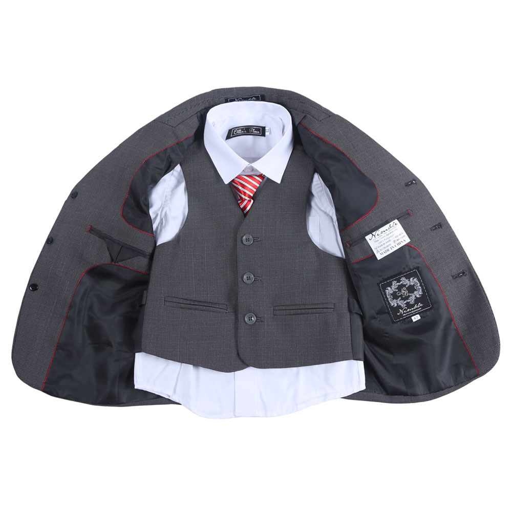 все цены на Hot Sale New Children Clothes Sets Boy Suit Boys Formal Suit Blazers 3-Piece Suits онлайн