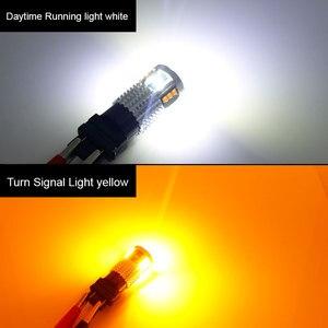Image 5 - 2Pcs Dual Color 1157 BAY15D P21/5W Led T20 7443 W21/5W Led Bulb T25 3157 P27/7W Car DRL Turn Signal Lamp Auto Lights Bulb 12V