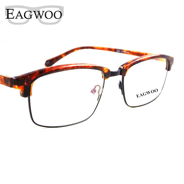 248005683b Metel Alloy Eyeglasses Vintage Nerd Full Rim Optical Frame Prescription  Spectacle Men Big Wide Face Reading Glasses 69061