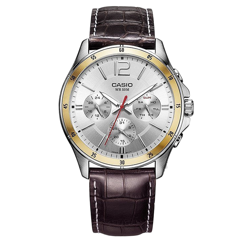 Casio Watch Pointer Series Multi function Chronograph Men's Watch MTP 1374L 7A-in Quartz Watches from Watches