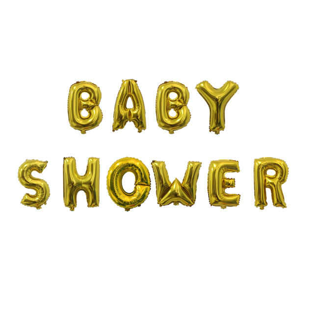 10pcs Baby Shower Balloons Gold Silver Letters Balloon Banner Baby Shower Decorations Boy Girl Shower Supply Aliexpress