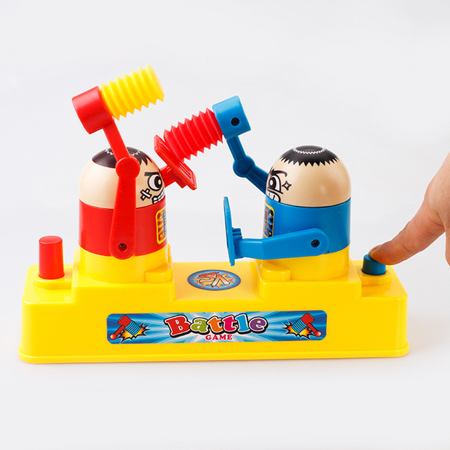 2017 Kids Hammering Contest Toys With Box Family Party Friend  Battle Hammer Attack Fight Finger Speed Melee Game Toy