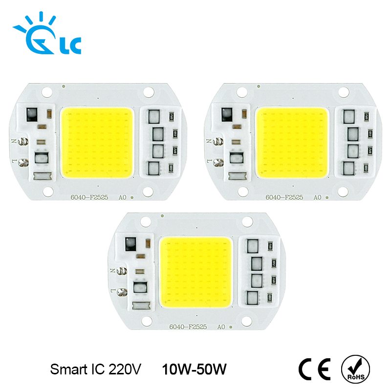 LED Chip 220V COB Chip led 50W 30W 20W 12W 240V Input Smart IC Driver Fit For DIY LED Floodlight Spotlight Cold White Warm White led cob lamp chip 5w 20w 30w 50w led chips 220v input smart ic driver fit for diy led floodlight spotlight cold white warm white