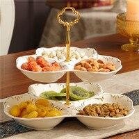 Из европейской керамики фрукты двойная гайка в виде пластины домашнее украшение гостиная стол многофункциональный леденец