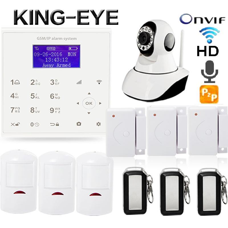 Wireless Yoosee HD Mini Wireless Camera wifi gsm Alarm System For Home Security PIR Detector Remote Control Door Sensor 433mhz 433 mhz wireless camera security system mini ip camera wifi gsm alarm systems for home with door sensor infrared pir motion