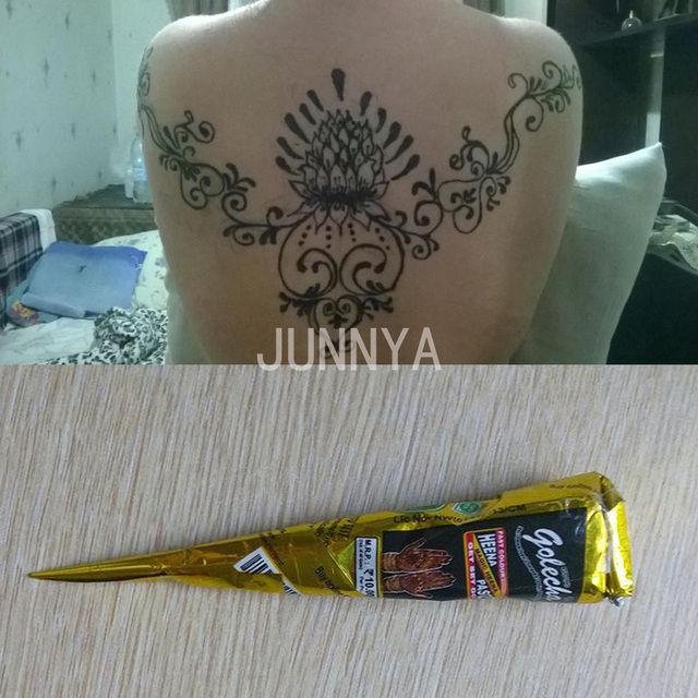 1 Piece Natural Indian Temporary Tattoo Henna Paste For Body Art Drawing 25 Gram Black Henna Tattoo Painting