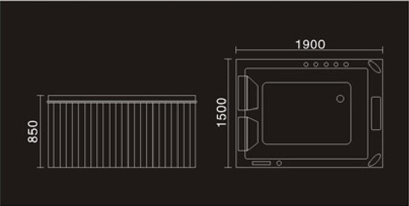 1900mm dupla pessoas de fibra de vidro hidromassagem piscina plástico aço saia hidromassagem surf ao ar livre tv spa ns3055-1