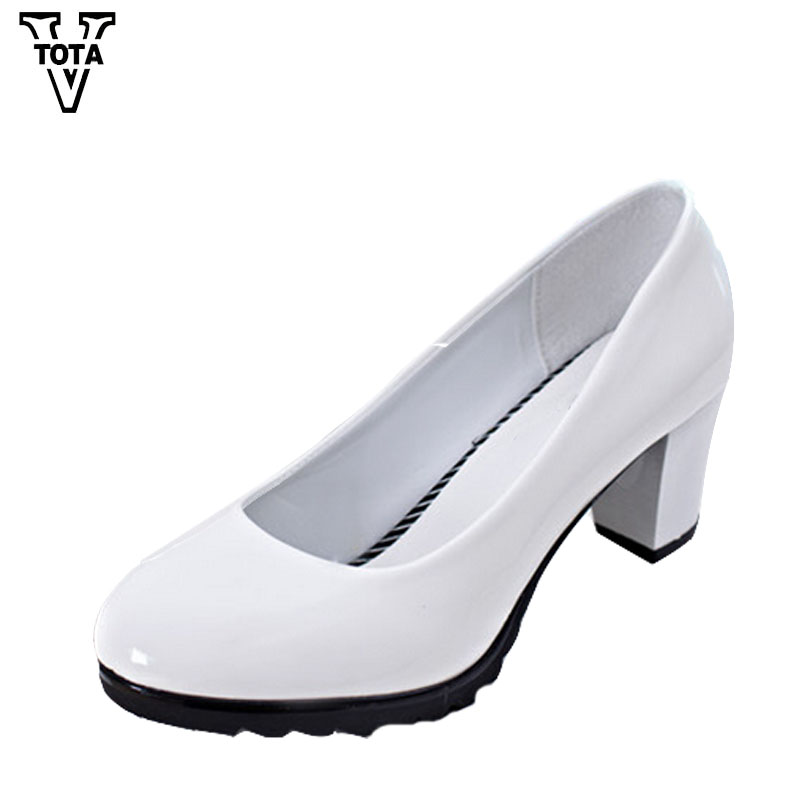 VTOTA Pumps Women Shallow Shoes Woman Thick High Fashion Casual Women's Shoes Working Shoes Chaussure Femme Zapatos Mujer FC07 цены онлайн