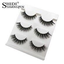 3 Pairs Soft Mink Eyelashes Makeup Fake Eye Lashes Natural False Eyelashes Eyelash Extension Non Magnetic 3d Mink Lashes