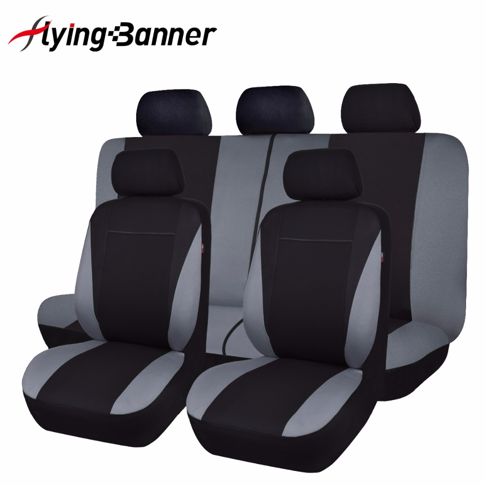 flyingBanner Universal Car Seat Cover 11PCS Healthy Breathable Driver Cushion Protector Car-styling Automobiles Accessories