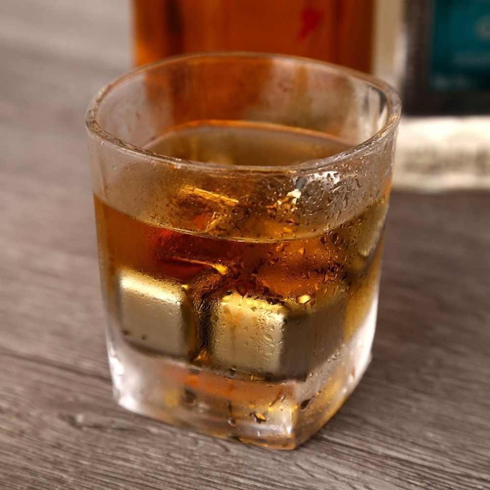 1 pz/lotto Cubo Whisky Pietre 27 millimetri 304 In Acciaio Inox Con Clip di Rock Il Gusto del Vino Birra Pietra di Ghiaccio Bar