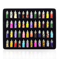 Multi Colored Glitter 3D Diamond Facet Flat Back Rhinestones Acrylic Nail Art Crystal Gems Decoration