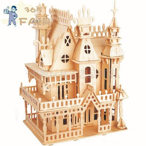 3d Puzzle Stereo Villa Sogno Wooden Puzzles Magic Cubes Fantasy