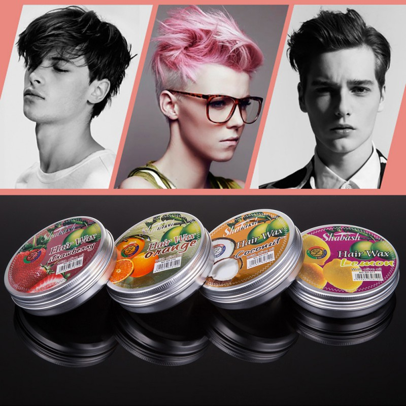 Natural Men Stereotypes Hair Wax Strong Long Lasting Fluffy Hair Wax Styling Products Casual Matte Hair Mud Gel Pomades