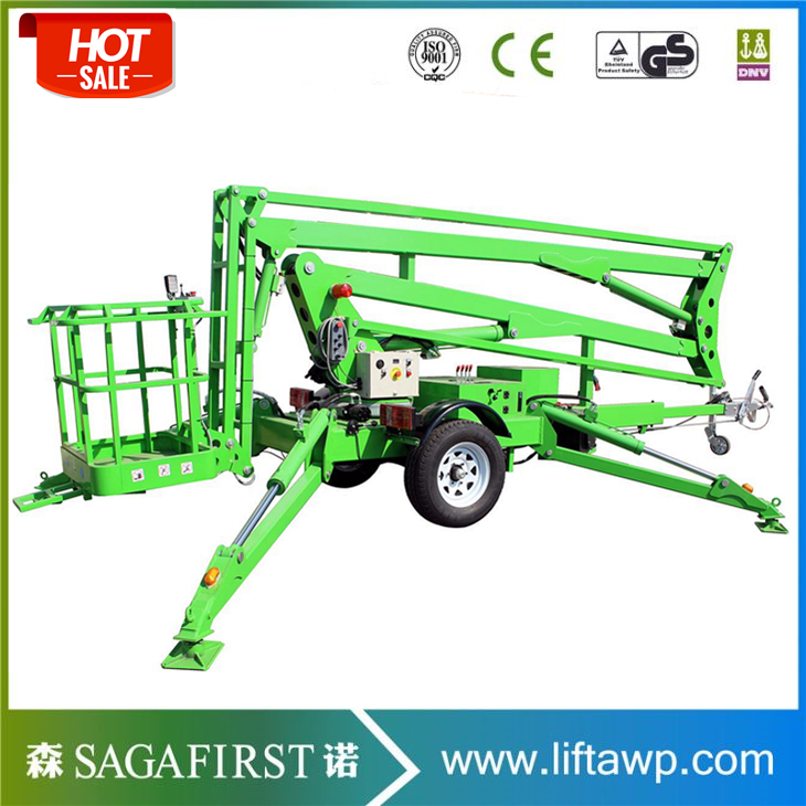 Factory Direct Supply Mobile Articulating Trailer Mounted Boom Lift