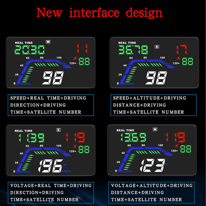 Image 2 - GEYIREN hud display car Q7 gps speedometer car for mirror hud Car Bike Motorcycle Auto Accessories Windshield Projector Alarm-in Head-up Display from Automobiles & Motorcycles