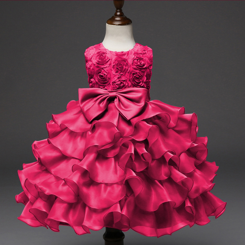 2017 New Summer Baby Girl Dress Children Kids Party Wedding Ball Gown 0-9 Year Girls Birthday Outfits Bridesmaids Clothes new year formal gown princess summer 2017 new party dress girl children clothing prom wedding kids clothes girls tutu dresses