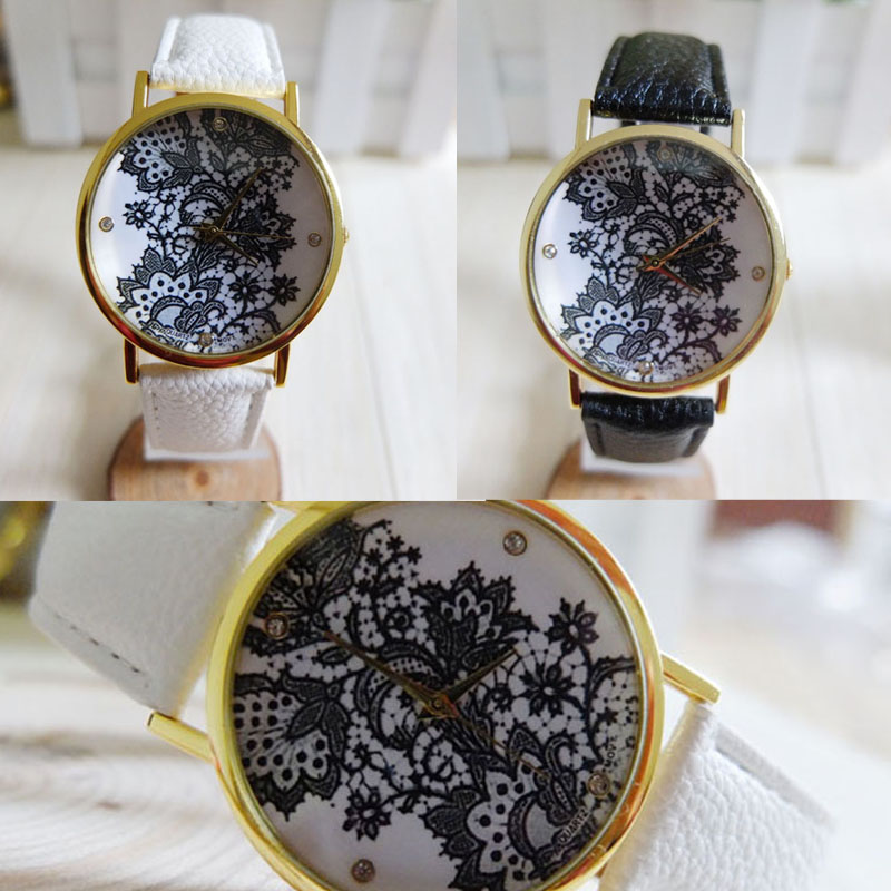 Watches Sweet-Tempered 2018 New Hottest Models Simple Women Watch Famous Brands New Vintage Women Ladies Watch Lace Printed Analog Leather Wrist Watch