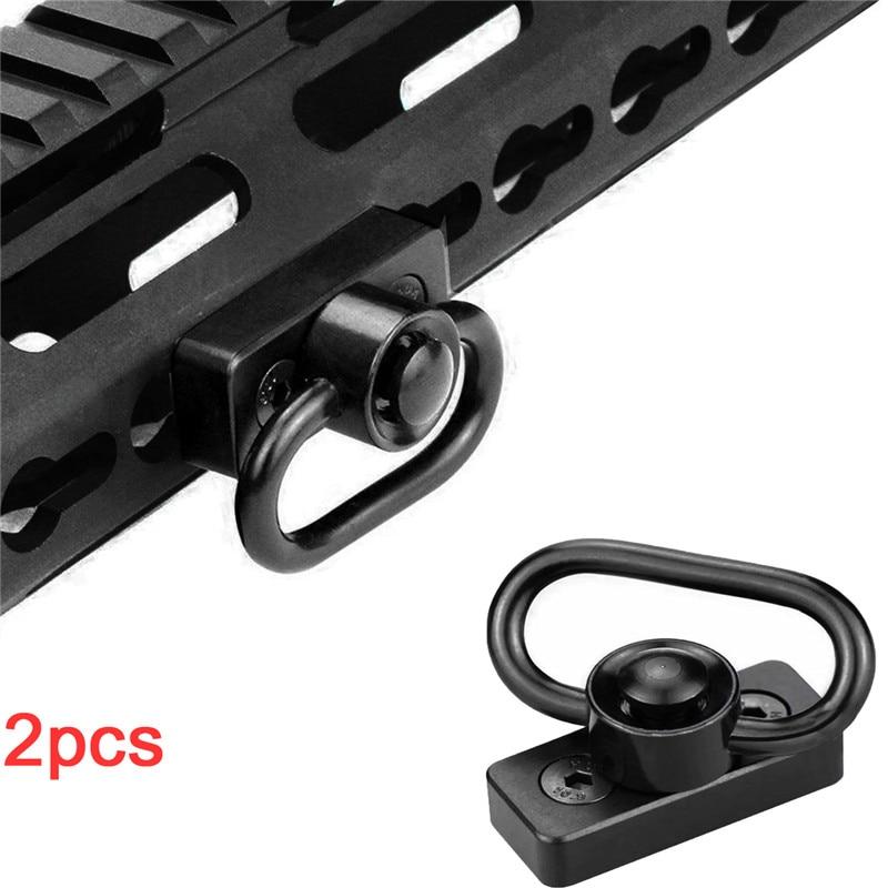 Tactical Push Button QD Sling Swivel Mount Key Mod KeyMod Rail Attachment