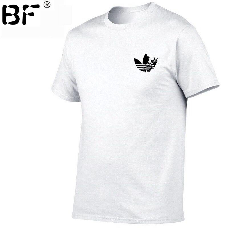 2019 Simple creative design line cross Print cotton   T     Shirts   Men's New Arrival Summer Style Short Sleeve Men   t  -  shirt