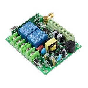 Image 3 - 220 فولت 10A 2CH موتور التحكم عن بعد التبديل المحرك إلى الأمام عكس حتى أسفل وقف الباب نافذة الستار اللاسلكية TX RX مفتاح محدود