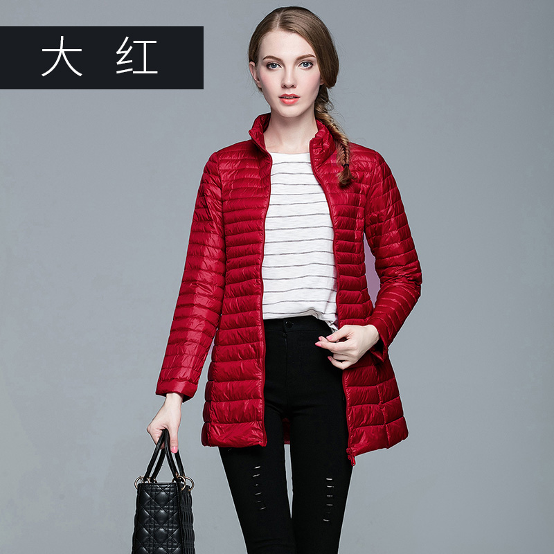 OMLESA 2017 Long Down Jacket 90% white duck down Women Winter Down Coats Ultra Light Down Jacket Quilted Hooded Coat S-6004