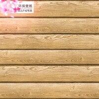 Schälen und stick tapete massivholz grain streifen holzmaserung wand papier holz retro holz loft decke wand papier 3d-in Tapeten aus Heimwerkerbedarf bei
