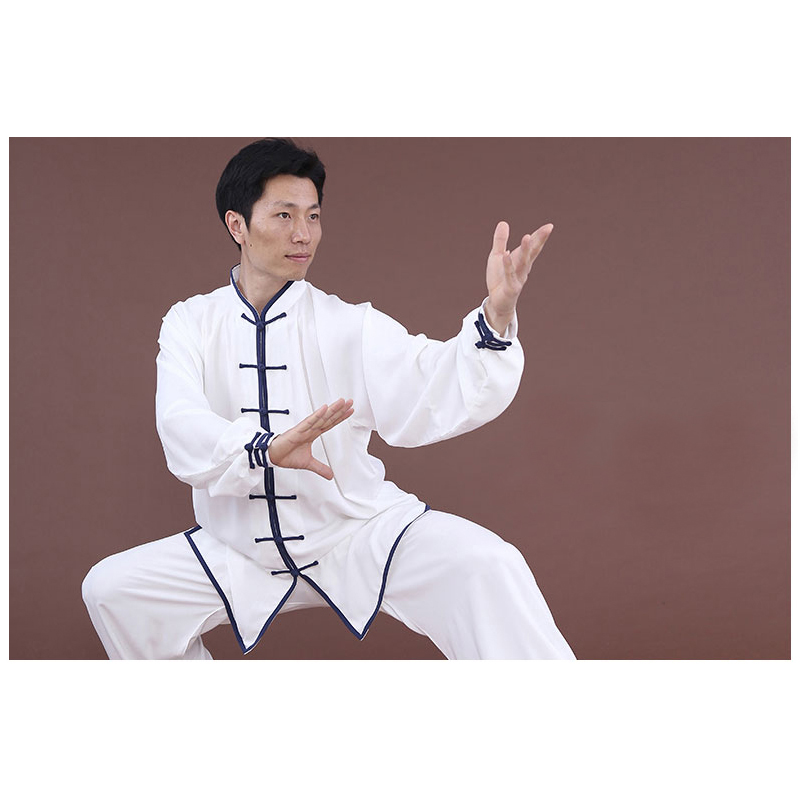 Tai chi clothing color edge long sleeves both for men and women chinese kung fu uniforms edge clothing edge clothing ed006ewhst72