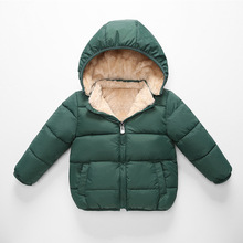 Detachable cap Children's Outerwear Coat Winter Baby Boys Girls Jackets Coat Infant Warm Baby parkas Thick Kids Hooded Clothes baby girls denim jackets coat fur hooded parkas plus thick winter warm children outerwear long clothes kids clothing q2069