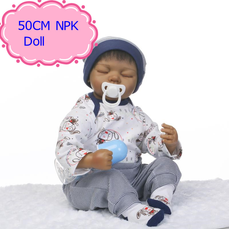 NPK 50CM Silicone Reborn Baby Doll Toys For Baby, Lifelike Reborn Babies Play House Toys Birthday Gift Girl Brinquedos Bonecas new fashion women minaudiere fashion evening bags ladies wedding party floral clutch bag crystal diamonds purses smyzh e0122