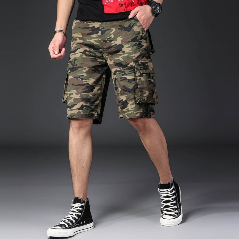NIGRITY Camo Men Cargo-Shorts Pants Clothing Cool Hot-Sale Cotton Casual Summer Brand
