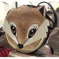 Поцелуй Богиня! новая Мода Симпатичные фокс сумка для Женщины ИСКУССТВЕННАЯ Кожа Сумка Плеча Сумку Лучше bandolera mujer
