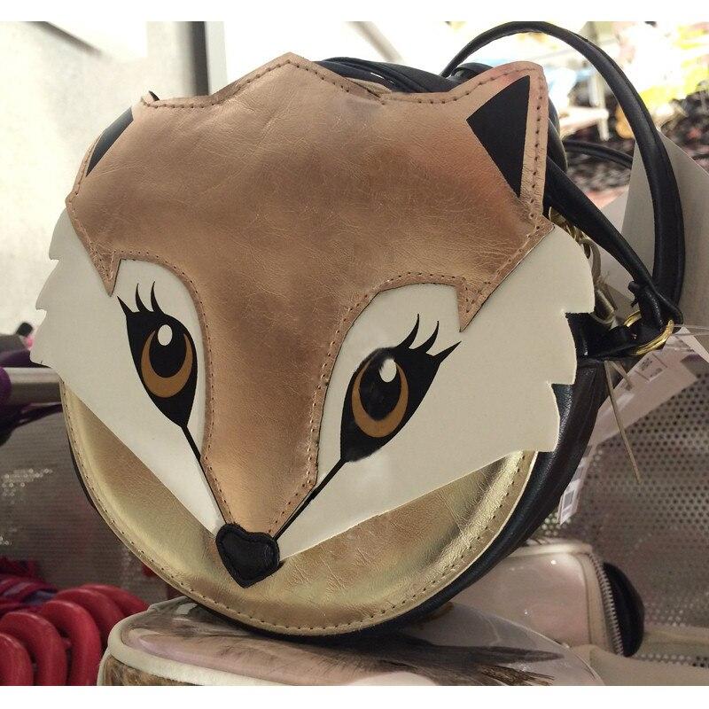 Kiss of the Goddess ! New Fashion Cute fox bag for Women PU Leather Satchel Shoulder Messenger Bag Better bandolera mujer the undomestic goddess