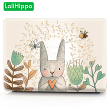 LoliHippo Cat Series Laptop Protective Case for Apple Macbook Air Pro A1707 A1990 11 13 15 Inch Notebook Cover for A1706 A1466