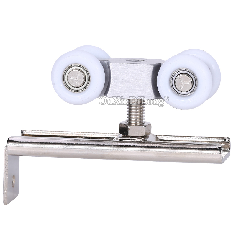 High Quality 4PCS Heavy Duty Sliding Door Rollers 4 Wheels Hanging Pulleys Closet Hangers Wheels Furniture Hardware
