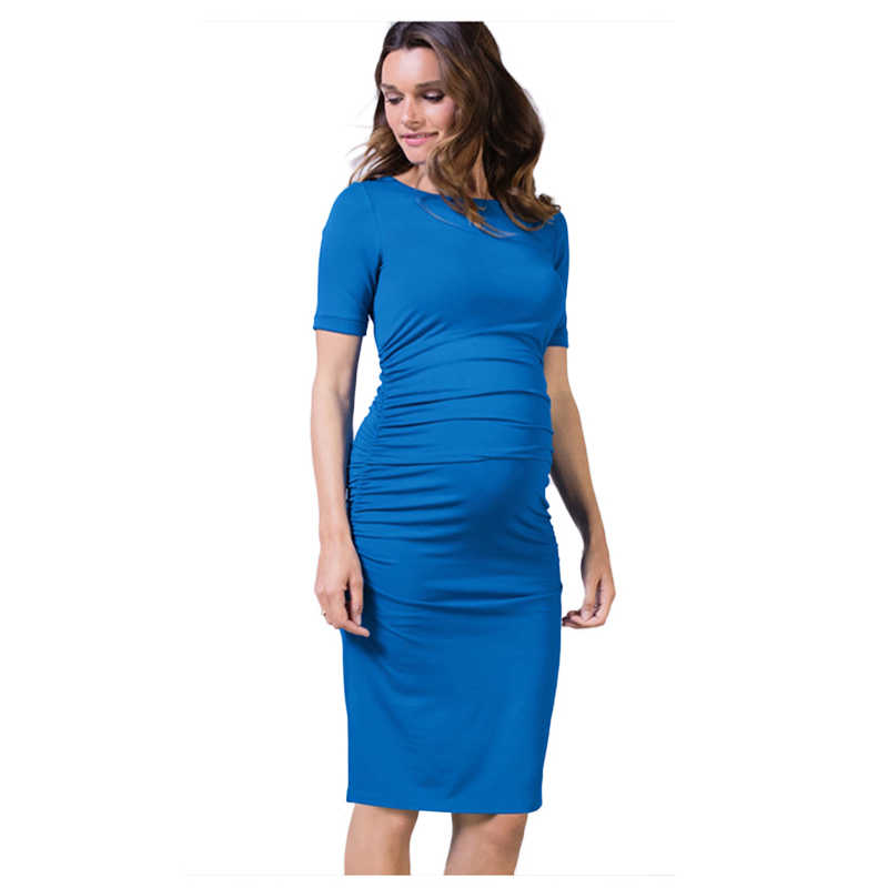 f72103cbe312d ... Short Sleeve Maternity Dresses Lycra Clothes For Pregnant Women Summer Pregnancy  Clothing Maternity Clothes Solid Belly ...