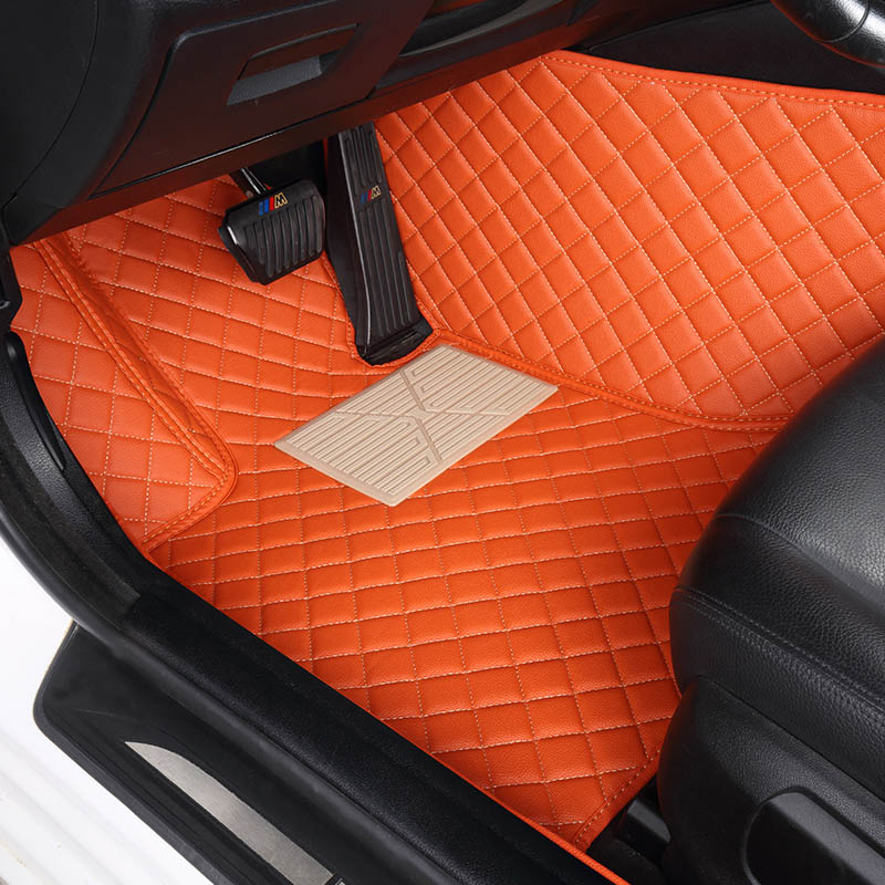 Custom car floor mats for Hyundai All Models solaris ix35 30 25 Elantra MISTRA GrandSantafe accent car styling floor mat куплю литые диски на hyundai solaris
