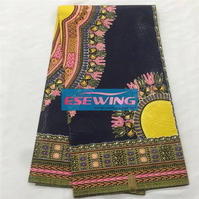 Black Color African Veritable Ankara Print Wax Pure Cotton Super Java Fabric For Women Dress