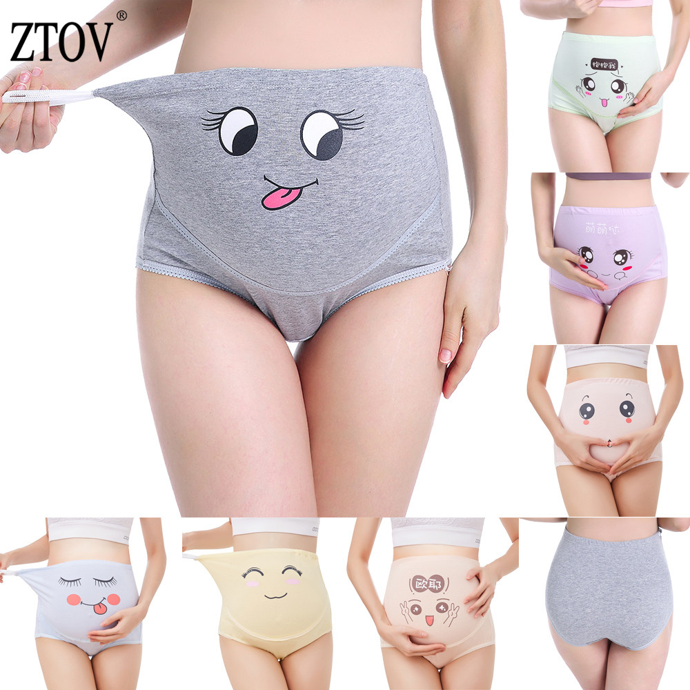 ZTOV 1Pcs Cotton Maternity Panties High Waist Panties For Pregnant Women Maternity Underwear Pregnancy Briefs Women Clothes XXL