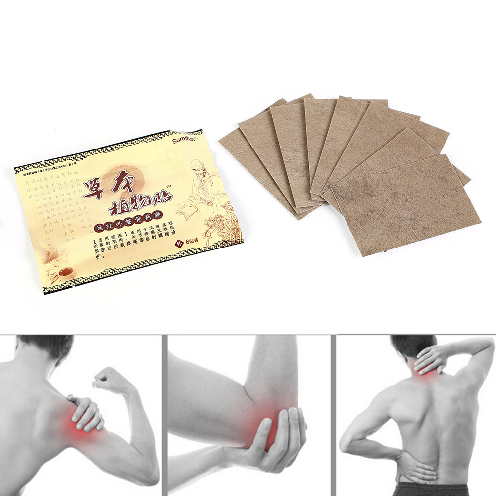 8Pcs/pack Chinese Medical Plaster Foot Muscle Back Neck Shoulder Body Massager Pain Patch Improved Treatment Tens